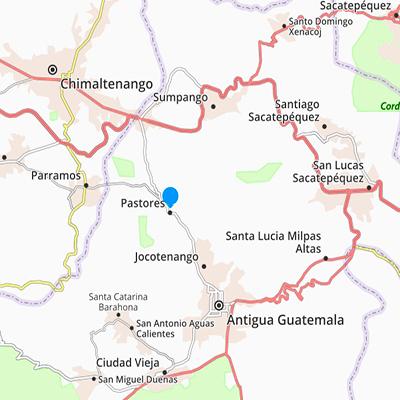 Mapa de Pastores, Sacatepéquez, Foto Guatemala