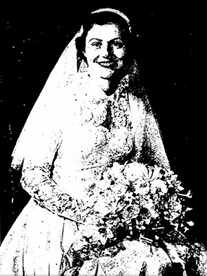 Marion Popenoe vestida de novia, genealogy