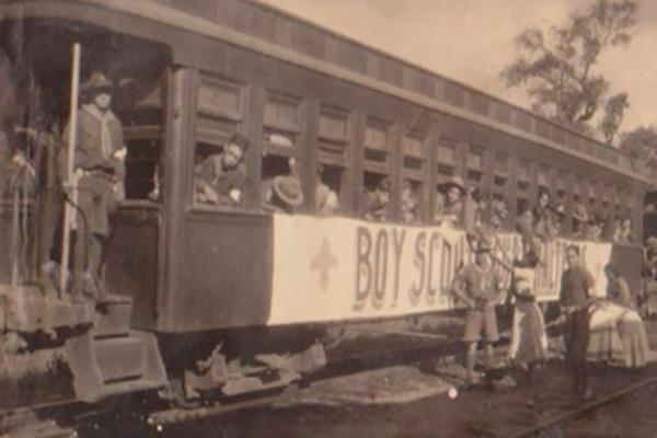 Primeros scouts de guatemala en bagón - 1927