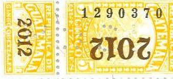 Timbre Fiscal guatemalteco