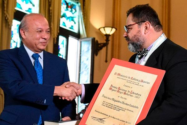 Historia del Premio Nacional de Literatura Miguel Ángel Asturias - Foto Gobierno de Guatemala