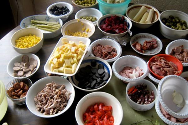 Ingredientes para la receta del fiambre guatemalteco - Foto Mejor Web