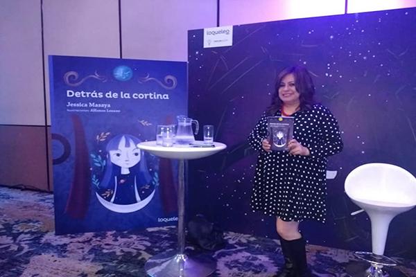 Jessica Masaya, escritra Guatemalteca, presentación de libro - Foto Jessica Masaya