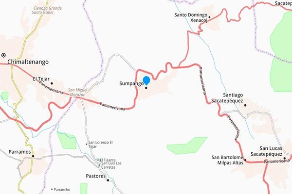 Mapa del Municipio de Santiago Domingo Xenacoj. Foto Guatemala