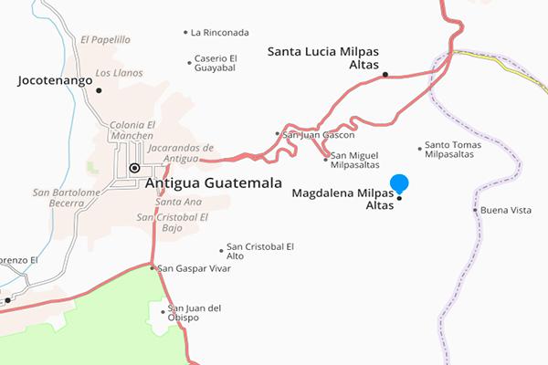 Municipio de Magdalena Milpas Altas, mapa - Foto Guatemala . com
