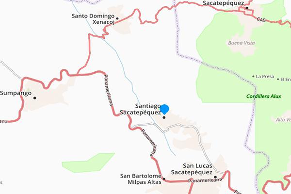 Municipio de Santiago Sacatepéquez, mapa Foto guatemala . com