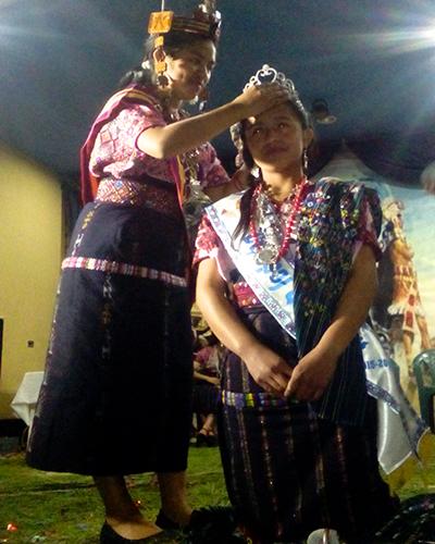 Fiesta Patronal en honor a Catarina de Alejandría, elección de reina Nahualá - Foto Conectando Atitlán