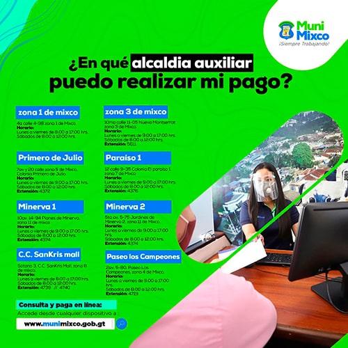 Pago de IUSI en Mixco, Guatemala - Foto Municipalidad de Mixco