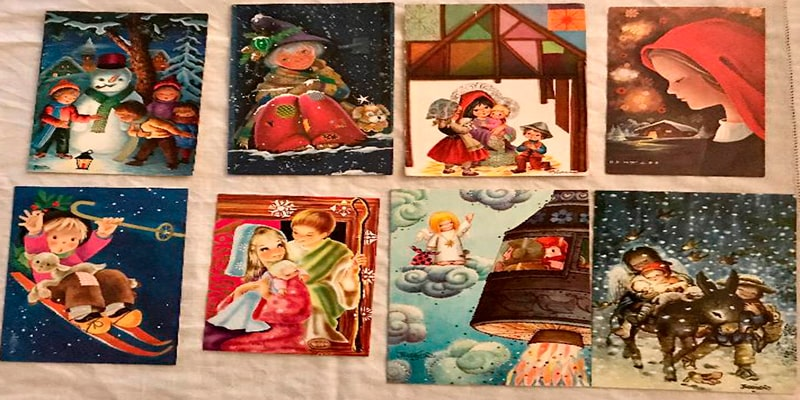 Antiguas tarjetas de navidad de Guatemala, varias - Foto Todocolección