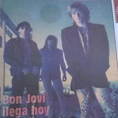 Concierto único de Bon Jovi en Guatemala, 1993, prensa - Foto Rock Chapín