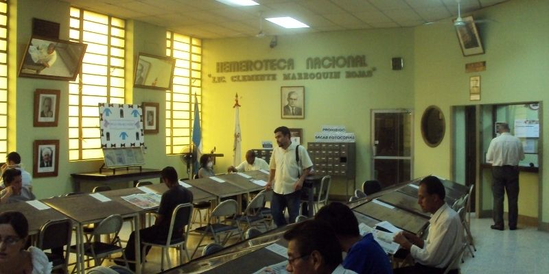 Historia de la Hemeroteca Nacional de Guatemala