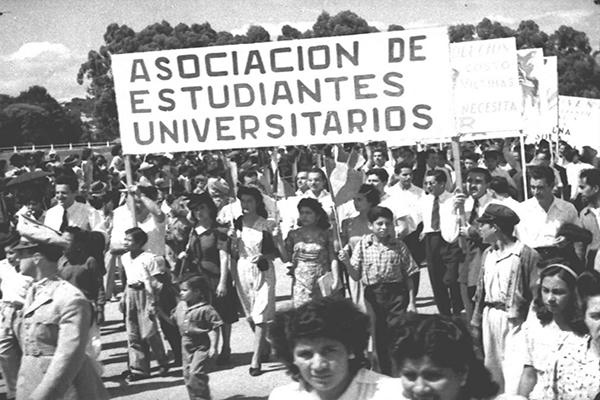 Historia de la Autonomía Universitaria de la USAC, representación de la AEU- Foto SOY USAC