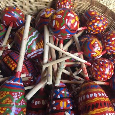 Instrumentos de las posadas navideñas de Guatemala - Foto Wichovalla