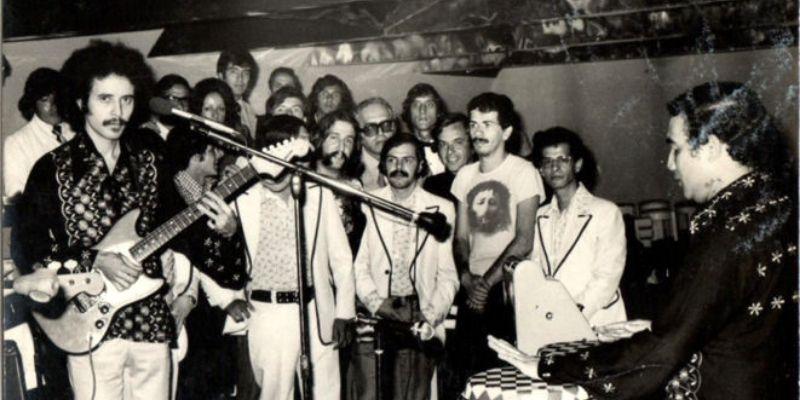 Visita de Carlos Santana a Guatemala en 1973, santana - Foto Jorge Palmieri