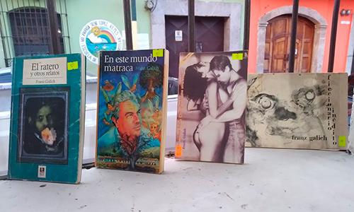 Descripción de la foto - Portadas de los libros de Franz Galich - Foto Casa Cultural El Cadejo