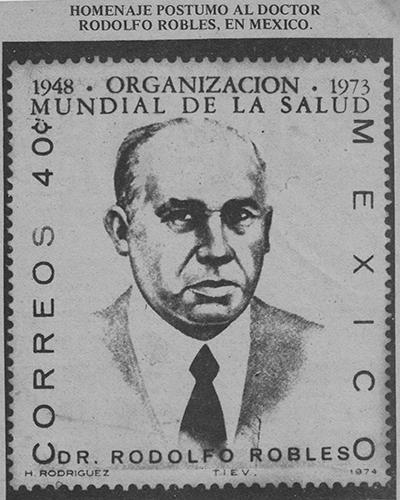 Biografía de Rodolfo Robles Valverde - Descricpión de foto Imagen de Rodolfo Robles Valverde en una postal de México - Crédito José Rodolfo Vizcaino Freyre