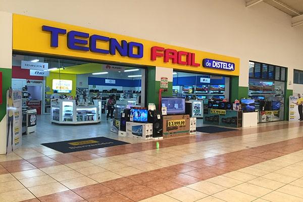 Descripción de foto - Exteriro de la Tienda TECNO FACIL ubicada en Pradera Villa Nueva. - Crédito - Grupo Distelsa