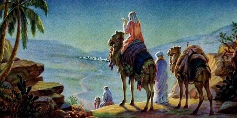 Descripción de la foto, ilustración de los tres reyes magos por la noche de camino hacia Belén - Crédito Mediotiempo . com