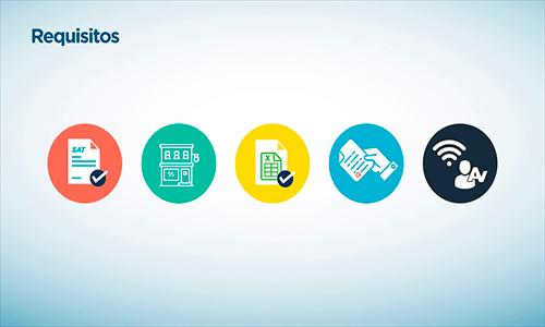 habilitar Libro Electrónico Tributario de la SAT, pequeño contribuyente en Guatemala - Descripción de la foto - íconos de requisitos para el LET - crédito SAT
