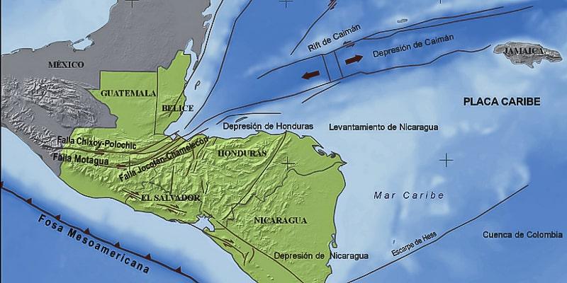 Fallas geológicas de Guatemala