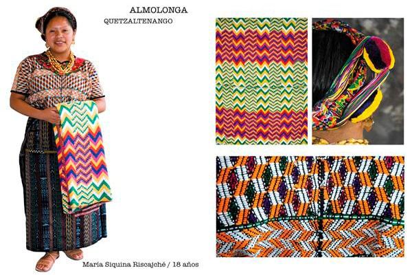 Descripción de foto - Mujer de Almolonga parada viendo a la cámara, vestida con el traje típico de Almolonga. - Crédito de foto - Nancy Chuy