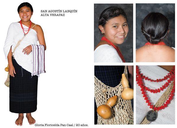 Descripción de foto - Traje típico femenino del municipio de San Agustín Lanquín. - Crédito de foto - Pinterest