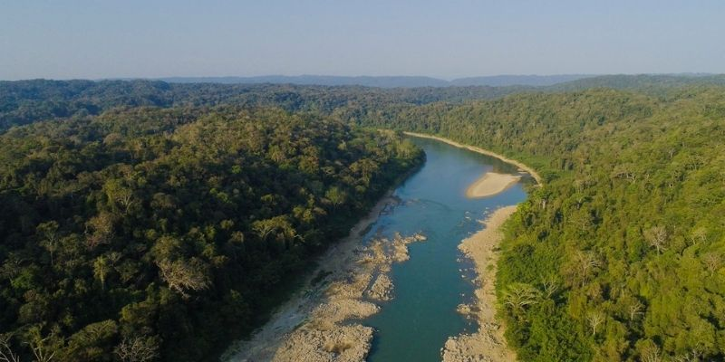 Descripción de foto - Vista de Río Usumacinta que divide los bosques del trópico y las fronteras de Guatemala. - Crédito de foto - ACOFOP
