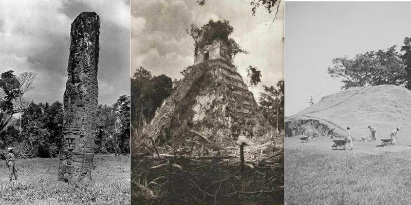 Descripción de foto: Quirigua, Tikal y Kaminal Juyú en sus descubrimientos. (Crédito de foto: Pinterest)