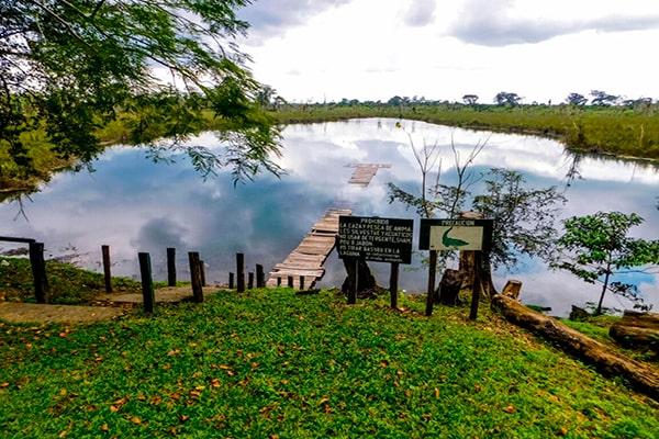 Descripción de foto - Entrada al lago El rosario, rodeado de vegetación y naturaleza. - Crédito de foto - Parque Nacional El Rosario