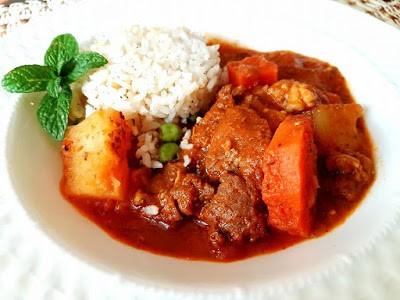 Receta para cocinar recado rojo guatemalteco.