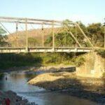 Puente colgante Los Plátanos en Sanarate, departamento El Progreso