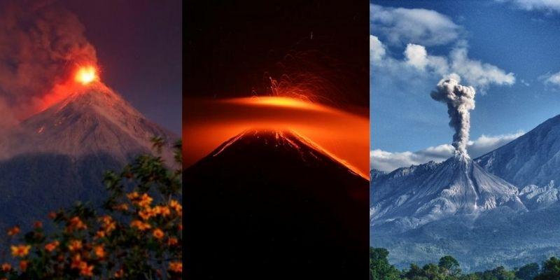 Los volcanes activos de Guatemala